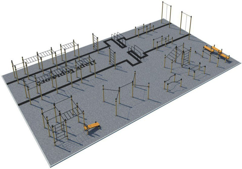 Terrain sportif pour les challenges sportifs Kenguru Pro